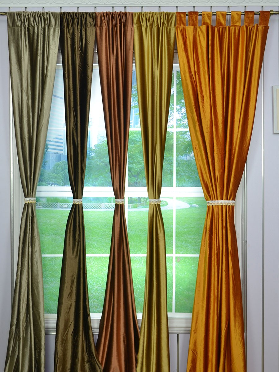 Whitney Brown Custom Made Velvet Curtains Living Room