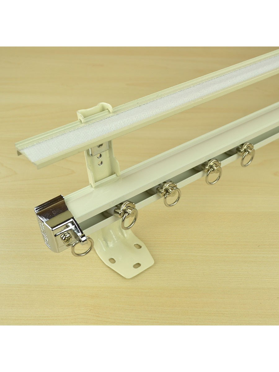 Chr7525 Ceiling Amp Wall Mount Double Curtain Track Set With