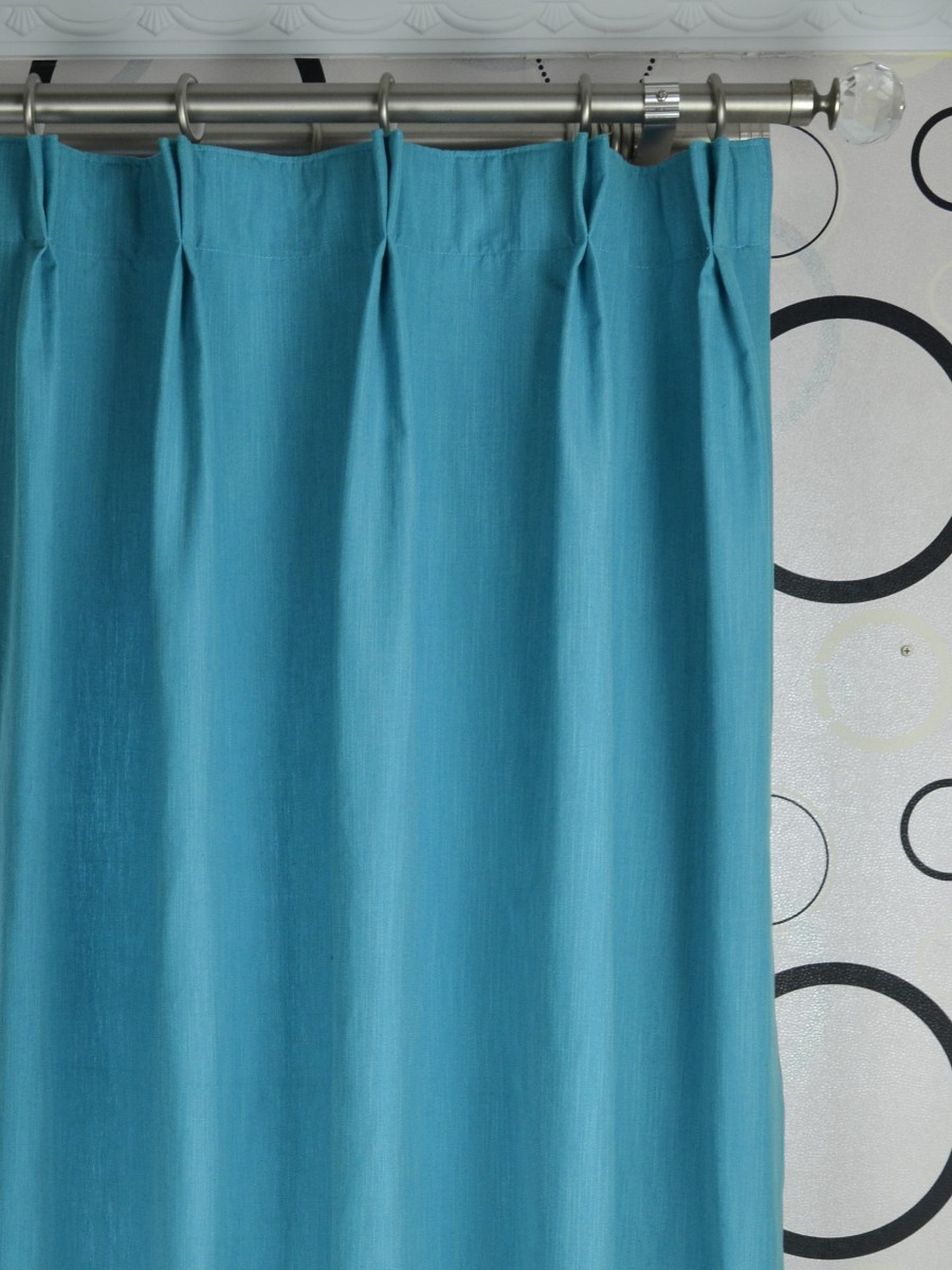hudson yarn dyed solid blackout double pinch pleat curtain