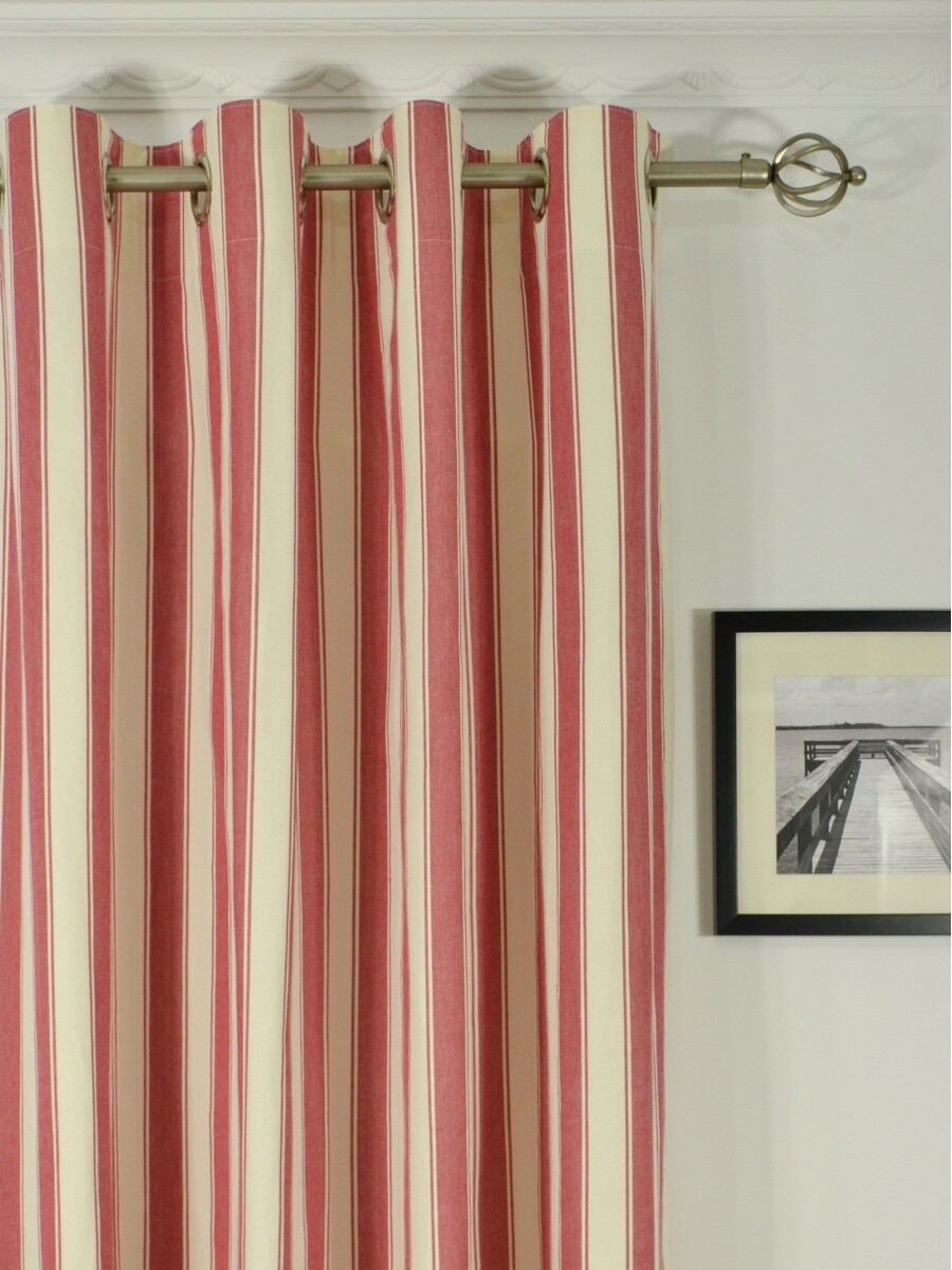 Moonbay Narrow Stripe Grommet Cotton