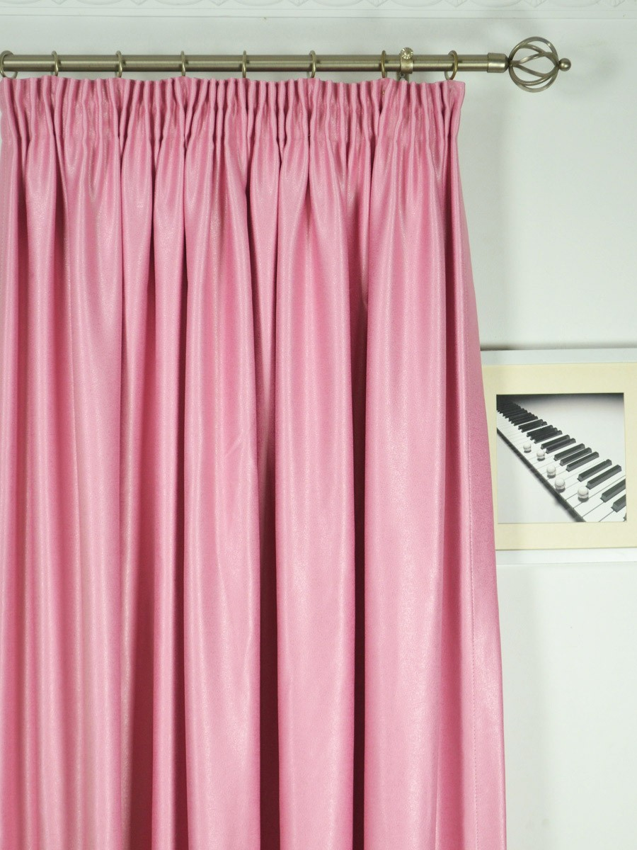 Extra Wide Swan Pink And Red Solid Pencil Pleat Curtain 100 Inch 120 Inch Wide