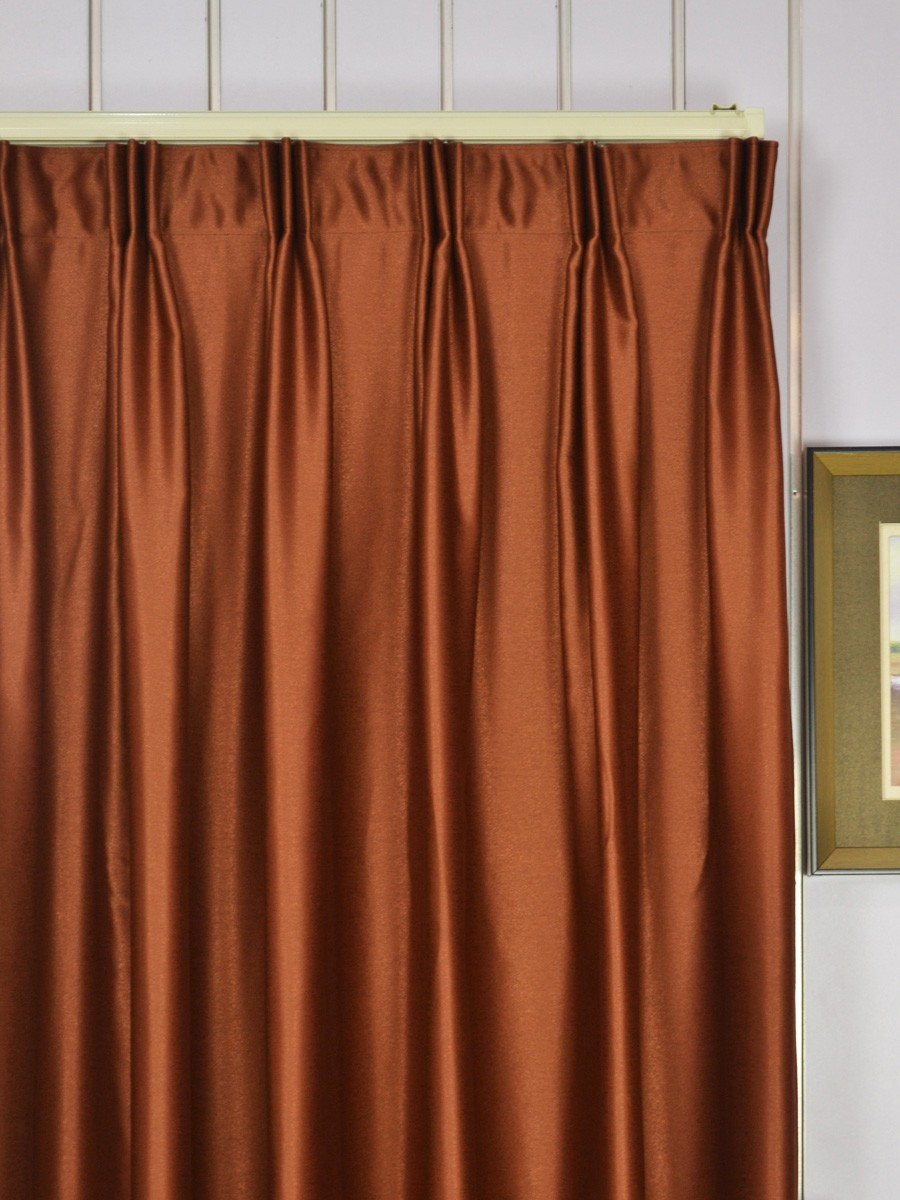 Extra Wide Swan Brown Solid Versatile Pleat Curtains 100 Inch 120 Width Heading Style