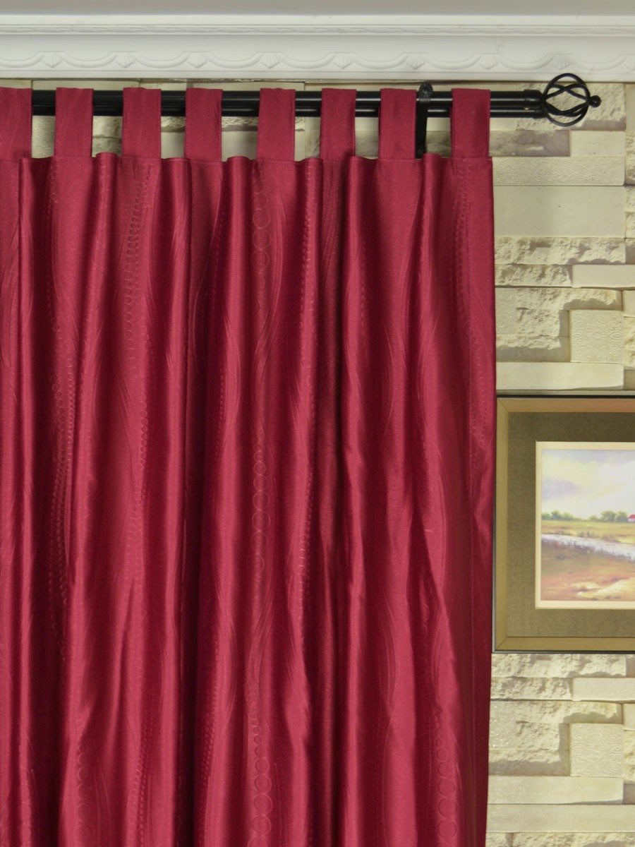 Extra Wide Swan Geometric Waves Tab Top Curtains 100 Inch 120 Inch Curtains