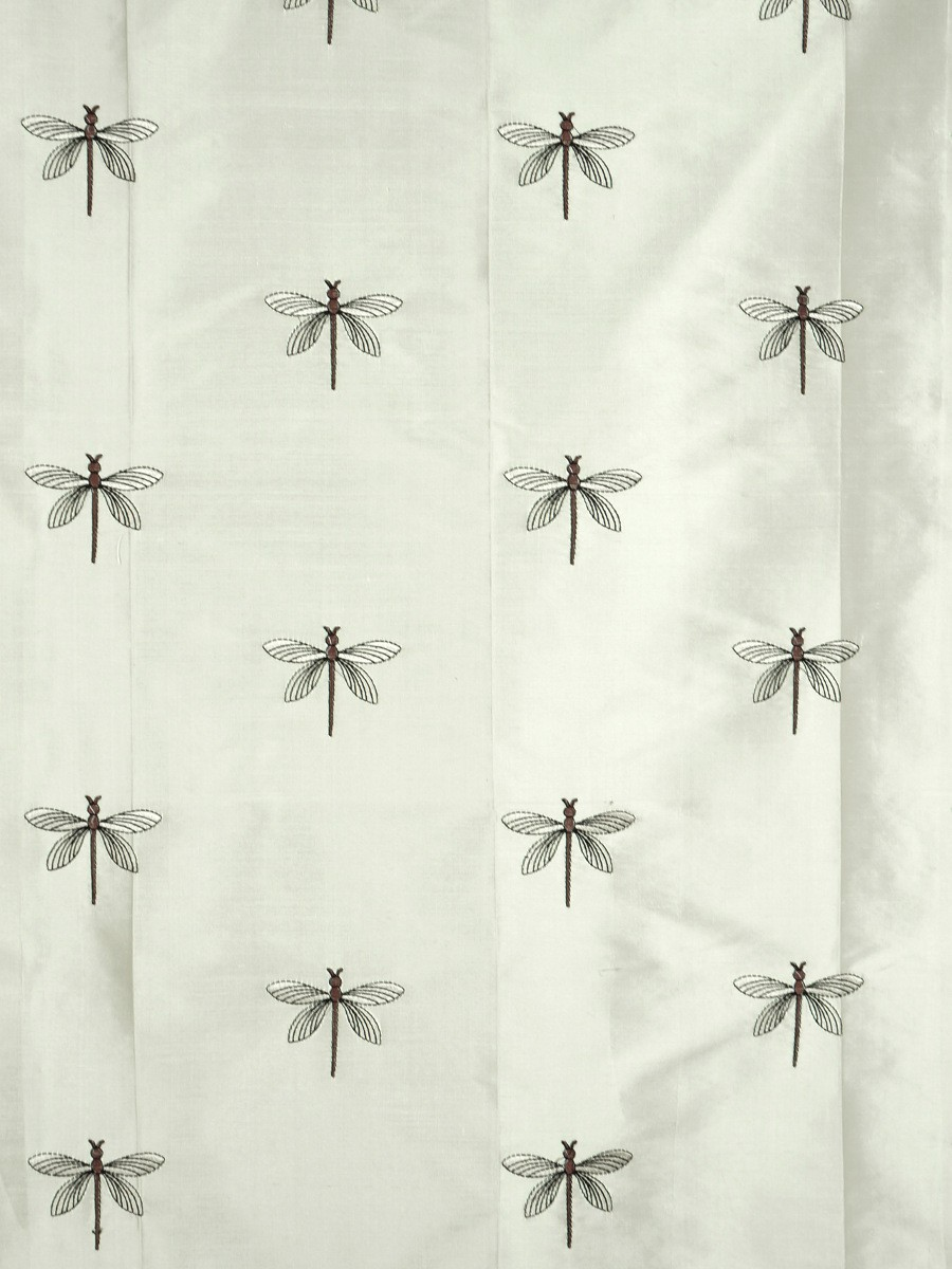 Halo Embroidered Dragonflies Fabric Sample