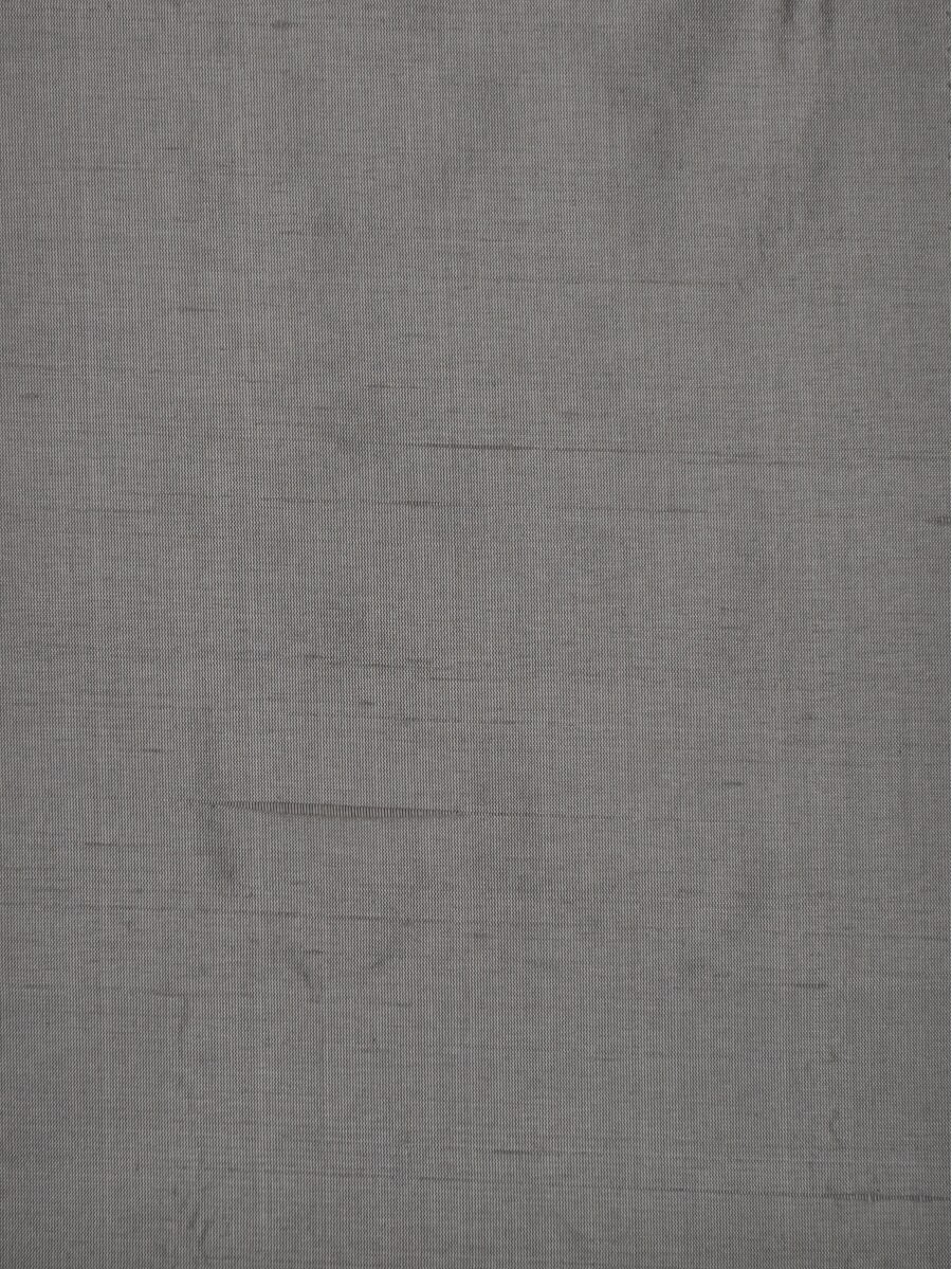 Oasis Solid Gray Dupioni Silk Fabric Sample