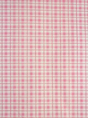 Alamere Pink and Ivory Small Plaid Cotton Fabrics Per Yard