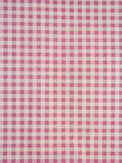 Alamere Pink and Ivory Checked Custom Made Cotton Curtains (Color: Brink Pink)