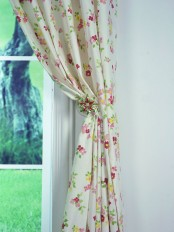 Alamere Colorful Floral Printed Custom Made Cotton Curtains