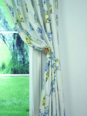 Alamere Birdhouses Printed Custom Made Cotton Curtains