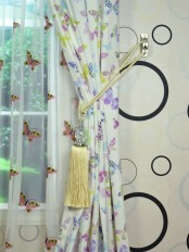 Alamere Butterflies Printed Custom Made Cotton Curtains