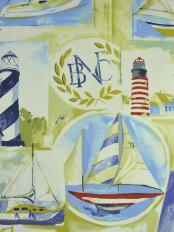 Alamere Sailing Nautical Printed Cotton Fabrics Per Yard