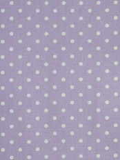 Alamere Small Polka Dot Printed Custom Made Cotton Curtains (Color: Languid Lavender)