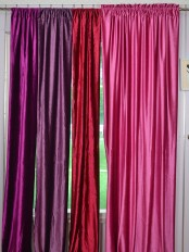 Whitney Pink Red Purple Custom Made Velvet Curtains For Living Room and Theater