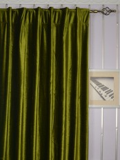 Extra Wide 4 Headings Whitney Green and Blue Solid Blackout Velvet Curtains