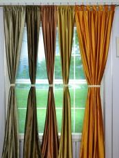 Whitney Brown Plain Custom Made Velvet Curtains