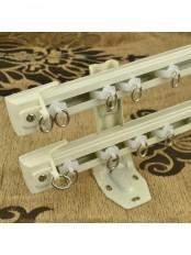 QYR6522 Aluminum Alloy Double Curtain Track Set