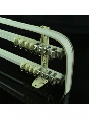 CHR8224 Ivory Bendable Triple Curtain Tracks with Valance Track Wall Mount