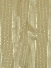 QY7151SB Laura Striped Custom Made Sheer Curtains with Gold Line (Color: Cloud Dancer with Dot)