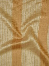 QY7151SC Laura Colourful Striped Custom Made Sheer Curtains (Color: Peach)