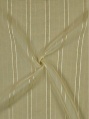 QY7151SE Laura Striped Polyester Custom Made Sheer Curtains (Color: Alabaster Gleam)