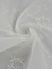 Elbert Damask Floral Pattern Embroidered Versatile Pleat Sheer Curtains
