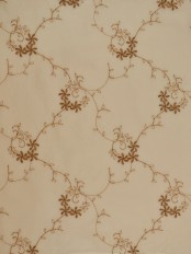 Elbert Damask Floral Pattern Embroidered Grommet Sheer Curtains