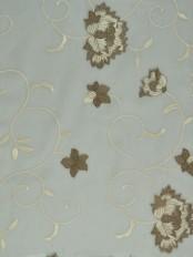 Elbert Flowers Pattern Embroidered Versatile Pleat Sheer Curtains