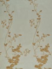 Elbert Vine Leaves Pattern Embroidered Grommet Sheer Curtains