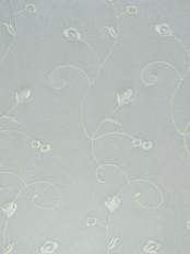 Elbert Floral Pattern Embroidered Rod Pocket Sheer Curtains