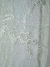 Elbert Branch Floral Pattern Embroidered Versatile Pleat Sheer Curtains