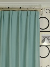 Extra Long Moonbay Plain Versatile Pleat Cotton Curtains