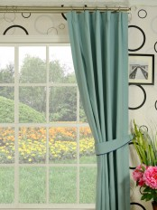 Moonbay Plain Versatile Pleat Cotton Curtains