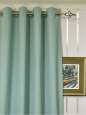 Extra Long Moonbay Plain Grommet Cotton Curtains