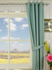 Moonbay Plain Grommet Cotton Curtains