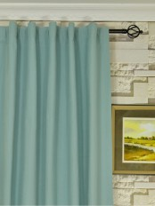 Extra Long Moonbay Plain Back Tab Cotton Curtains