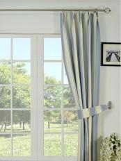 Moonbay Stripe Double Pinch Pleat Cotton Curtain