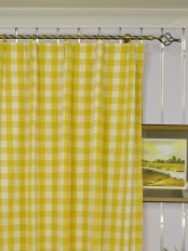 Extra Long Moonbay Small Plaids Versatile Pleat Cotton Curtains