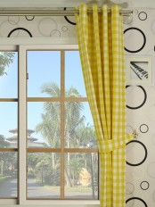 Moonbay Small Plaids Grommet Curtains