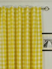 Extra Long Moonbay Small Plaids Back Tab Cotton Curtains