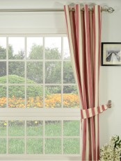 Moonbay Narrow-stripe Grommet Cotton Curtain