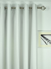 Extra Wide Swan Beige and Yellow Solid Grommet Curtains 100 Inch - 120 Inch Wide Heading Style