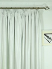 Extra Wide Swan Beige and Yellow Solid Pencil Pleat Curtains