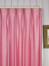 Extra Wide Swan Pink and Red Solid Versatile Pleat Curtains