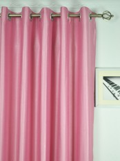 Extra Wide Swan Pink and Red Solid Grommet Curtains 100 Inch - 120 Inch Width Heading Style