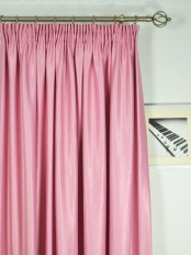 Extra Wide Swan Pink and Red Solid Pencil Pleat Curtains