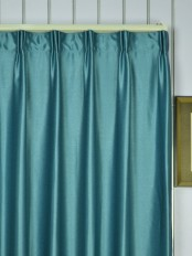 Extra Wide Swan Gray and Blue Solid Versatile Pleat Curtains