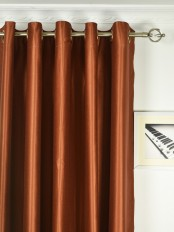 Extra Wide Swan Brown Solid Grommet Curtains 100 Inch - 120 Inch Width Panels Heading Style