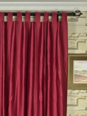 Extra Wide Swan Geometric 3D Embossed Waves Tab Top Curtains