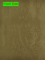 Swan 3D Embossed Floral Damask Custom Made Curtains (Color: Bistre Brown)