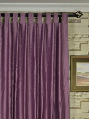Extra Wide Swan 3D Embossed Europe Floral Tab Top Curtains